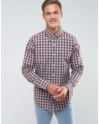 Abercrombie & Fitch - Shirt Madras Check In Burgundy Plaid - Lyst
