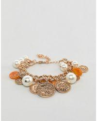 Stradivarius - Chain Coin Bracelet - Lyst