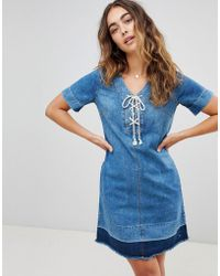 Pepe Jeans - Sailaway Denim Shift Dress - Lyst