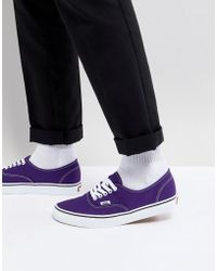 Vans - Authentic Plimsolls In Purple Va38emqa1 - Lyst