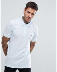 Lacoste - Slim Fit Logo Polo Shirt In Sky Blue - Lyst