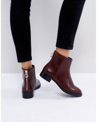 Pull&Bear - Zip Detail Ankle Boot - Lyst