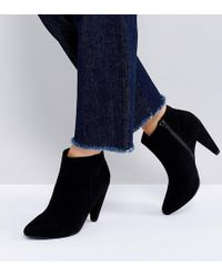 New Look - Suedette Cone Heeled Ankle Boot - Lyst