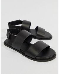 498bcfdcaf49 Lyst - Dune Leather Sandals In Black in Black for Men