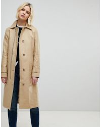 Whistles - Zip Detail Trench Coat - Lyst