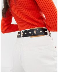 ASOS - Bug And Pearl Waist And Hip Belt Water Based Pu - Lyst