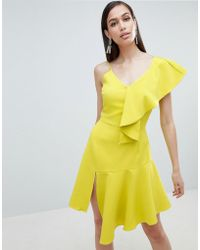 Lavish Alice - Draped Asymmetric Cami Mini Dress - Lyst