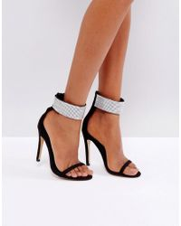 Truffle Collection - Bling Cuff Heel Sandal - Lyst
