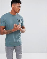 11 Degrees - Muscle T-shirt In Blue - Lyst