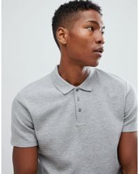 SELECTED - Polo Shirt In Structured Waffle - Lyst