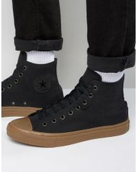 Converse - Chuck Taylor All Star Ii Hi Sneakers With Gum Sole In Black 155496c - Lyst