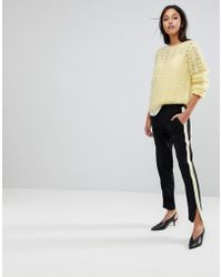 Gestuz - Sporty Pants With Yellow Stripe - Lyst