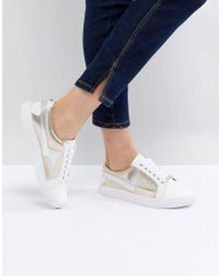 Dune - Head Over Heels Lightening Lace Up Trainers - Lyst