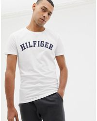 6bcafa8ee85 Tommy Hilfiger Big   Tall Striped Logo Print T-shirt In White in ...