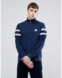 Pretty Green - Tricot Track Jacket In Navy - Lyst