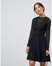 Oasis - Lace Skater Dress - Lyst