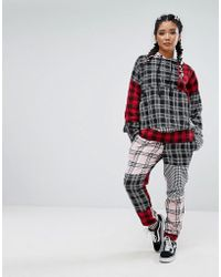 Jaded London | Tracksuit Bottoms In Patchwork Check Co-ord | Lyst