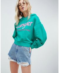 Wrangler - Cropped Hoody With Logo - Lyst