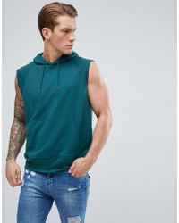 D-Struct - Sleeveless Hooded Sweat - Lyst