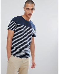 SELECTED - Stripe T-shirt In Organic Cotton - Lyst