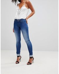 Salsa - Wonder Push Up Mid Rise Skinny Jean - Lyst