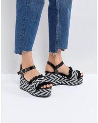 Sixtyseven - Taike Flatform Espadrille Sandals - Lyst