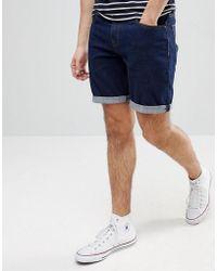 ASOS - Denim Shorts In Slim Indigo - Lyst