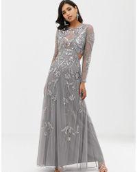 ASOS - Ergonomic Embellished Maxi Dress - Lyst