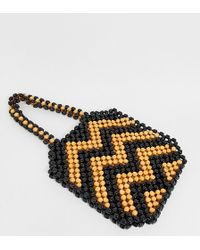 South Beach - Exclusive Large Wooden Beaded Shoulder Bag - Lyst