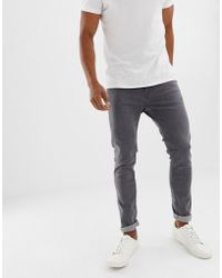 Produkt - Skinny Fit Jeans In Washed Grey - Lyst