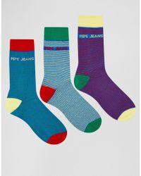 Pepe Jeans - 3 Pack Socks - Lyst