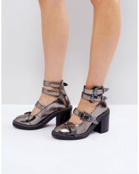 ASOS | Oh Gosh! Multi Buckle Heeled Shoes | Lyst
