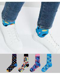 Happy Socks - Gift Box 4 Pack Socks - Lyst