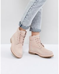Timberland - 6 Inch Premium Rose Suede Flat Boots - Lyst