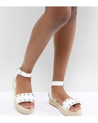 ASOS - Design Jake Studded Espadrille Sandals - Lyst