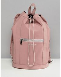 Fiorelli - Sport Drawstring Duffle Backpack In Pink - Lyst