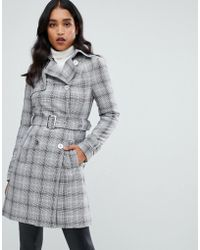 Lipsy - Mac With Belt In Check - Lyst