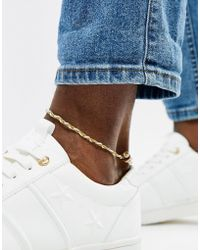 Classics 77 - Plaited Anklet In Tan - Lyst