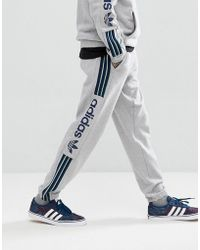 adidas Originals - Quarzo Fleece Joggers In Gray Ce1836 - Lyst