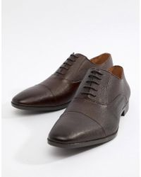 River Island - Leather Brogues In Brown - Lyst