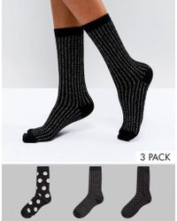Oasis - Multi Pack Socks - Lyst