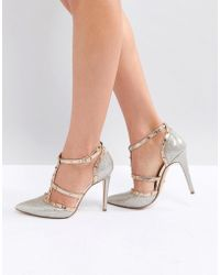 Dune - London Deanerys Studded Caged Pointed Court Shoe - Lyst