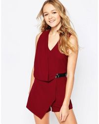 Madam Rage - Madam Playsuit With Wrap Front - Lyst