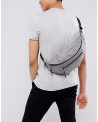New Look - Bum Bag In Grey Chambray - Lyst