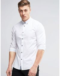 Produkt - Washed Cotton Shirt - White - Lyst
