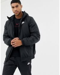 220281bdc6b8ca Nike Windbreaker With Back Print In Black Aj1396-010 in Black for ...