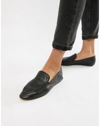 Mango - Soft Leather Loafer - Lyst