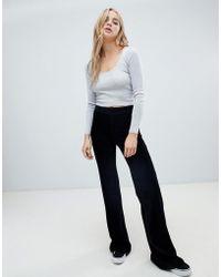 Pull&Bear - Velvet Co-ord Trouser In Black - Lyst