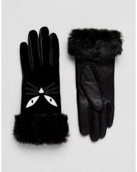 Alice Hannah - Cat Applique Gloves - Lyst