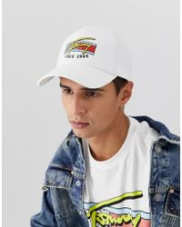 cd83f3e8264c3 Tommy Hilfiger - Baseball Cap With Signature Logo In White - Lyst